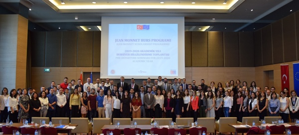 Deputy Minister of Foreign Affairs and Director for EU Affairs Ambassador Faruk Kaymakcı Met With The 2019-2020 Academic Year Jean Monnet Scholars
